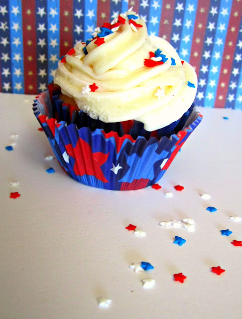 Cupcake topper, 4th of July, cupcakes, patriotic sprinkles, Fizzy Party