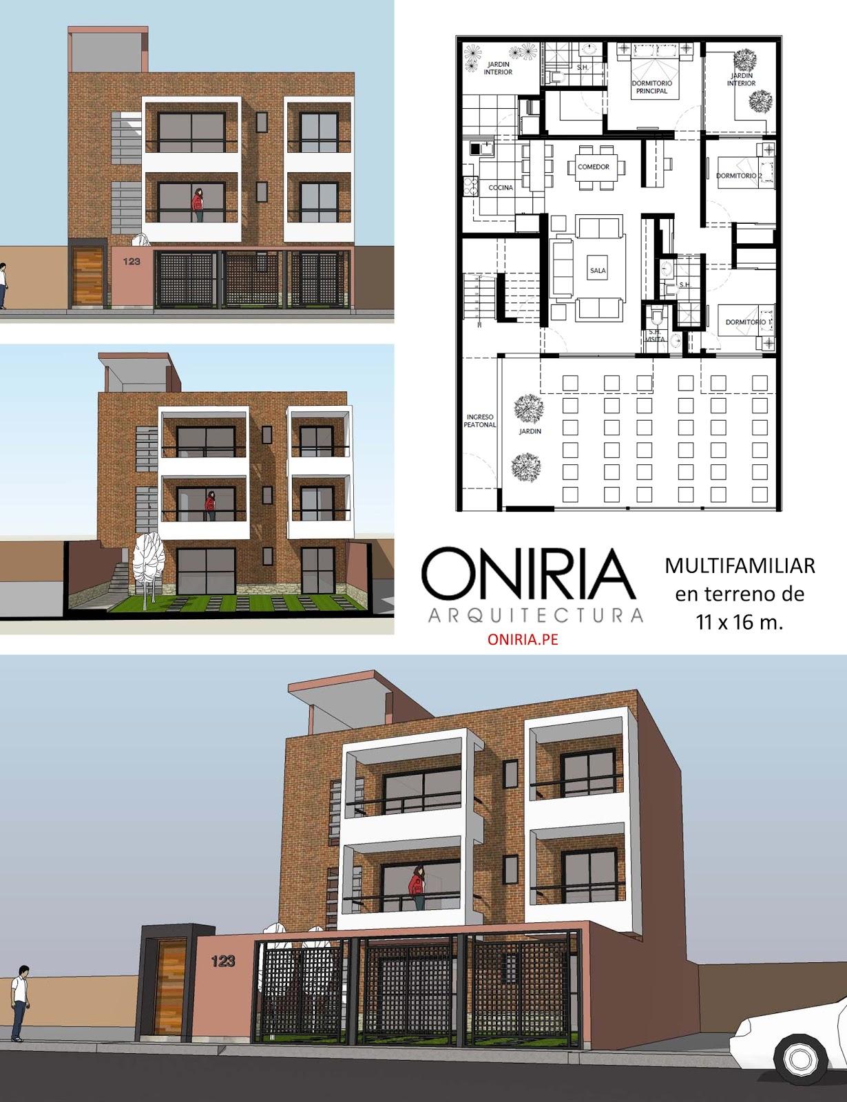 Oniria enero 2016 for Plantas de viviendas modernas
