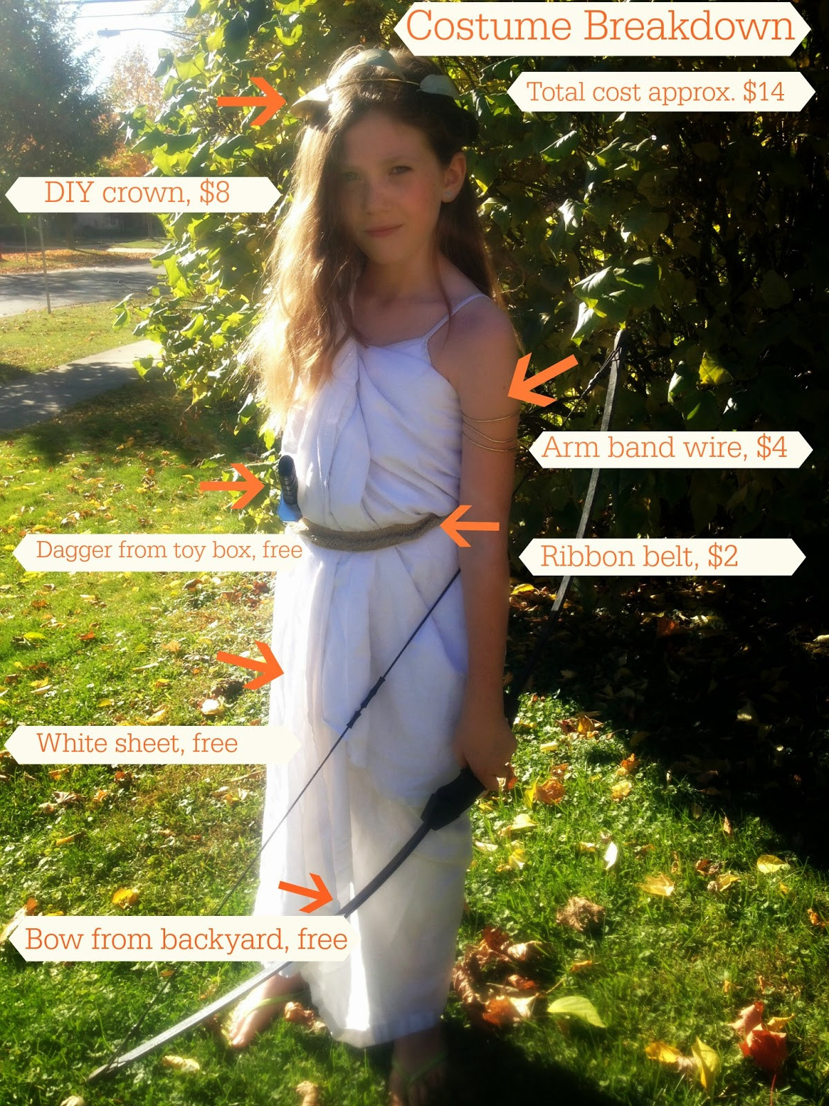 Jumping with my Fingers Crossed DIY Artemis Costume (A