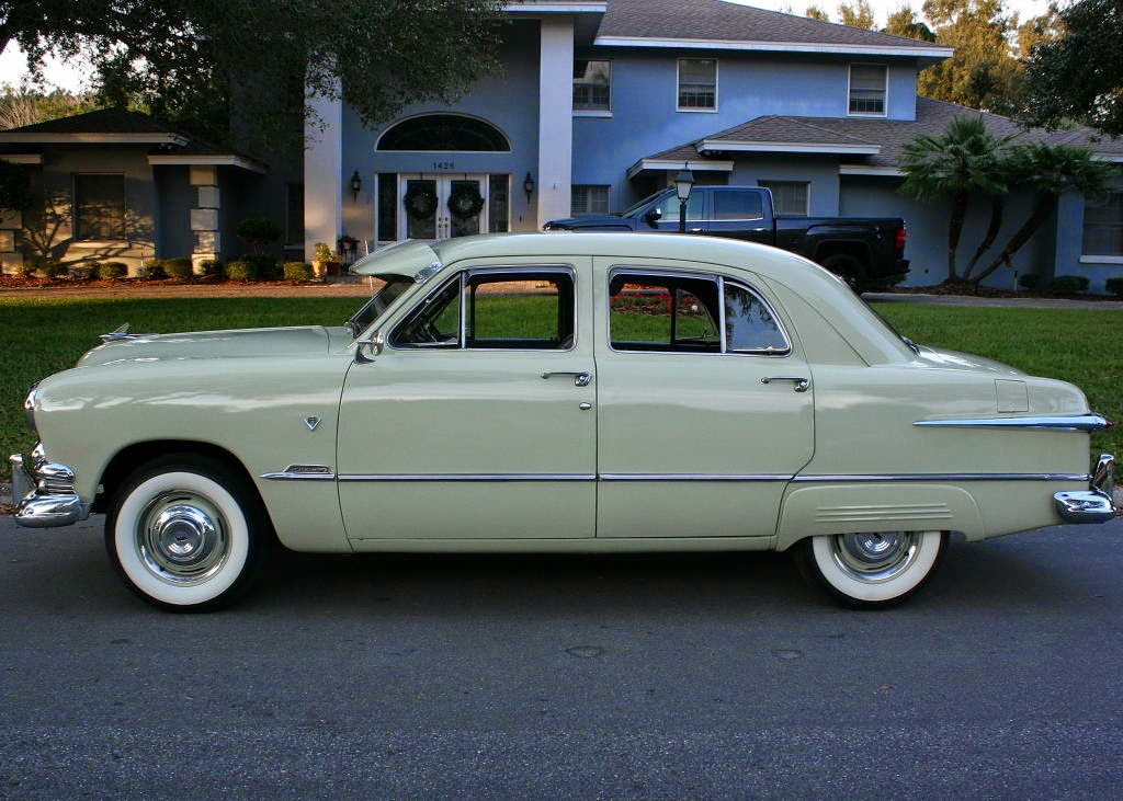 All american classic cars 1951 ford custom deluxe fordor for 1951 ford 4 door sedan
