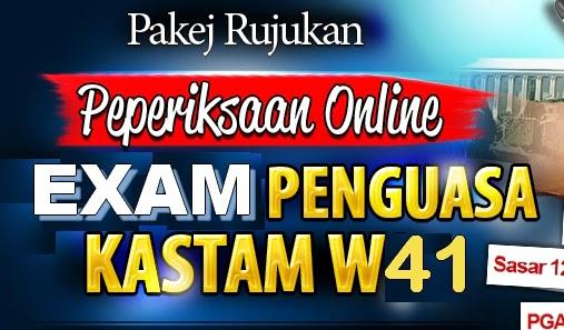 Panduan Peperiksaan Online Penguasa Kastam W41