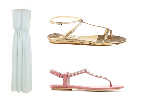 Massimo Dutti Dress, Sandals Jimmy Choo, Balenciaga