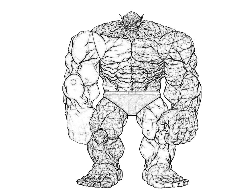 Abomination Character Coloring Pages