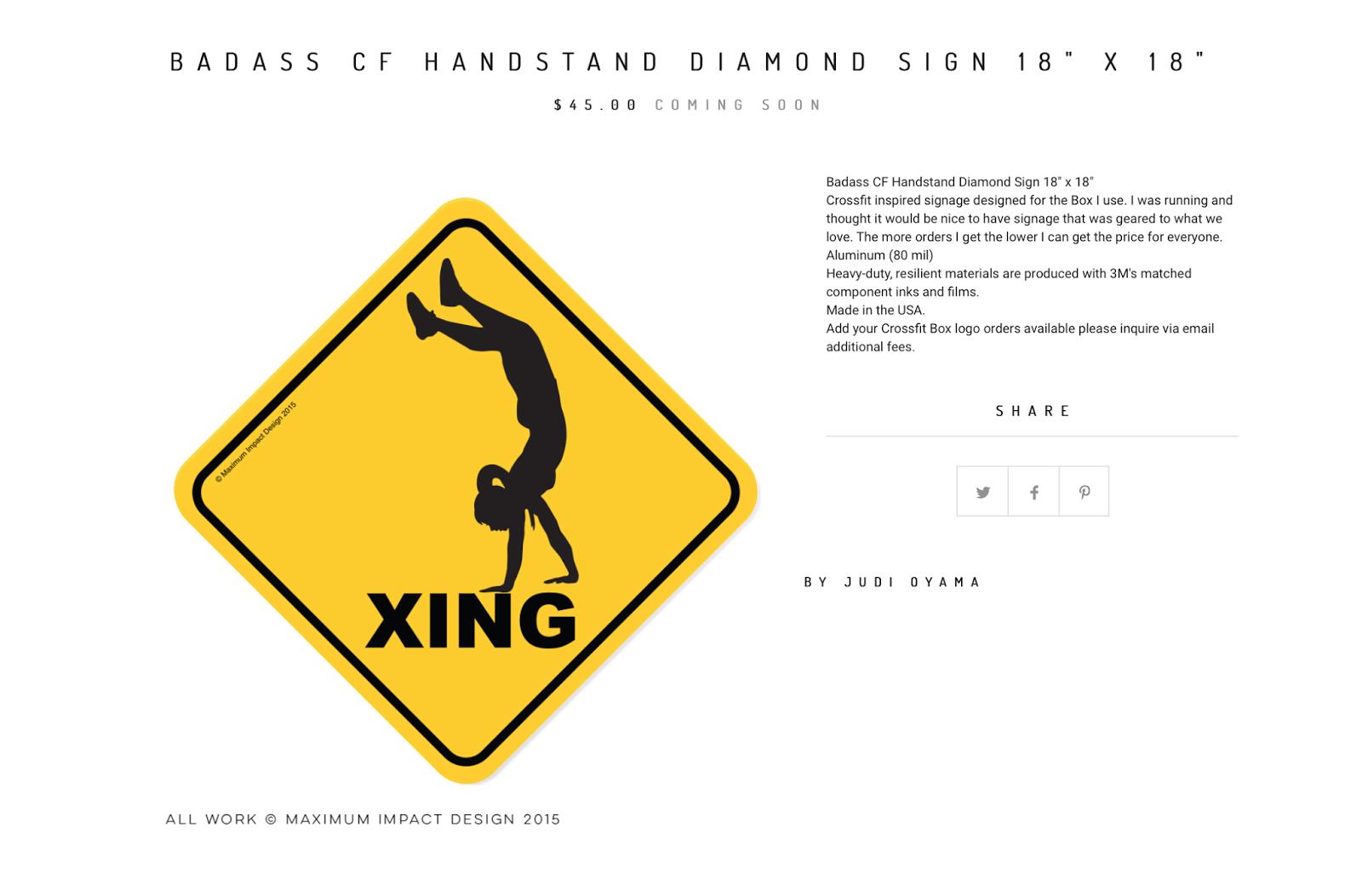 Crossfit signs