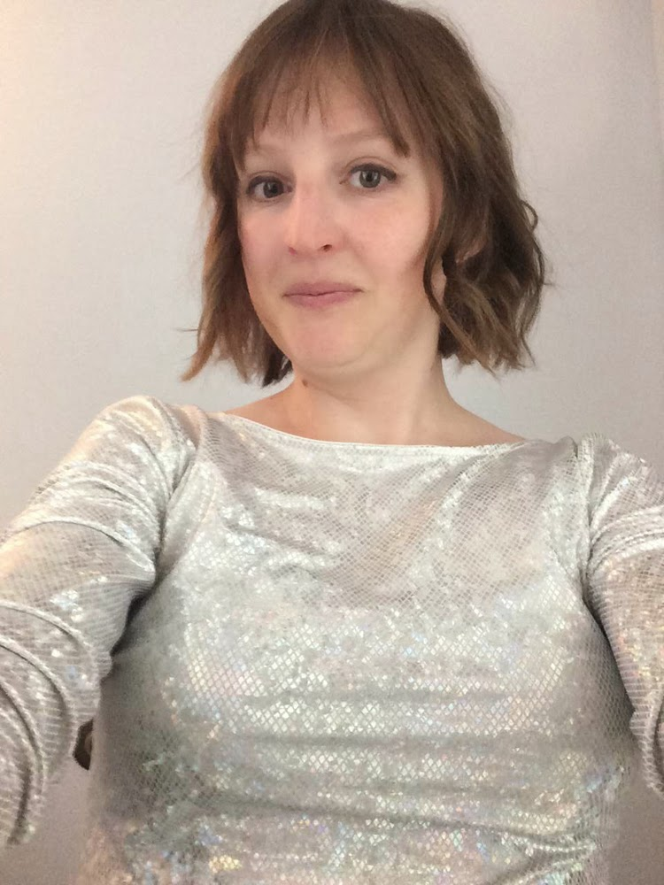 Mirrorball Dress Selfie