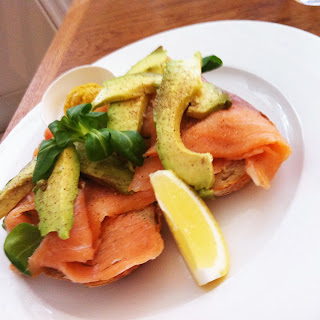 Salmon, avocado & mustard (mix & match made by Leslie)