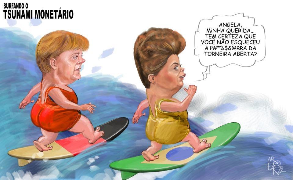 Michel, wach auf!: Dilma Rousseff zu Angela Merkel