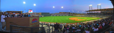 panorama, scottsdale stadium, spring training baseball