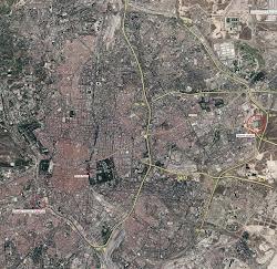 ** Plano de Madrid y localización estadios
