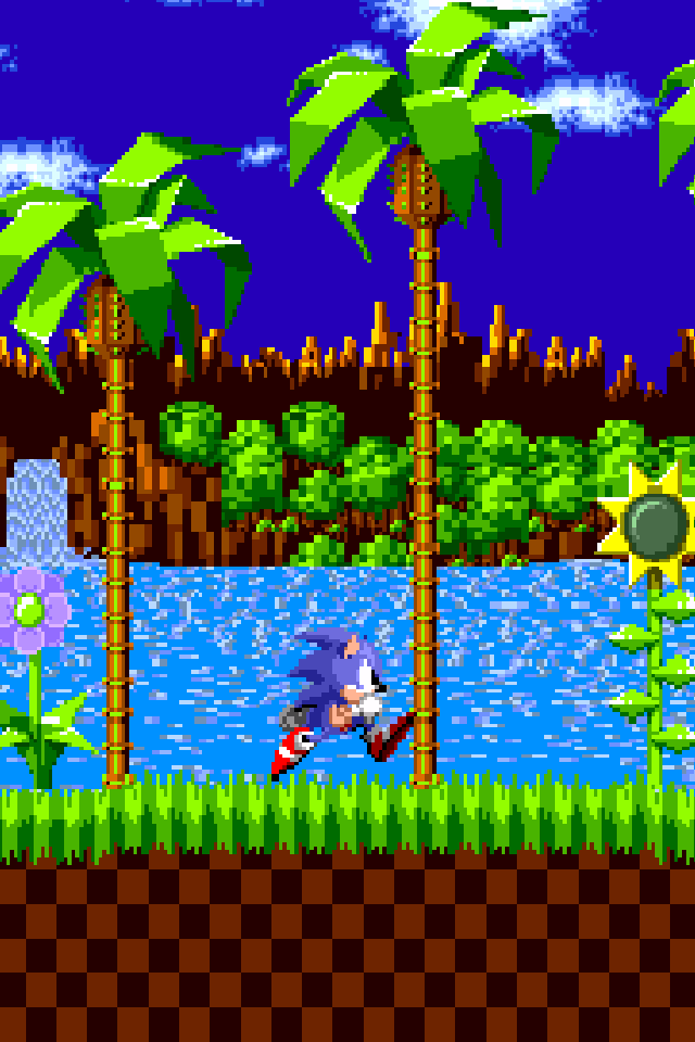 sonic retro iphone 4 wallpaper pocket walls hd