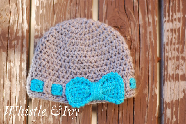 Faux Ribbon Baby Hat - Whistle and Ivy