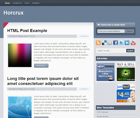 Horcrux Blogger Theme
