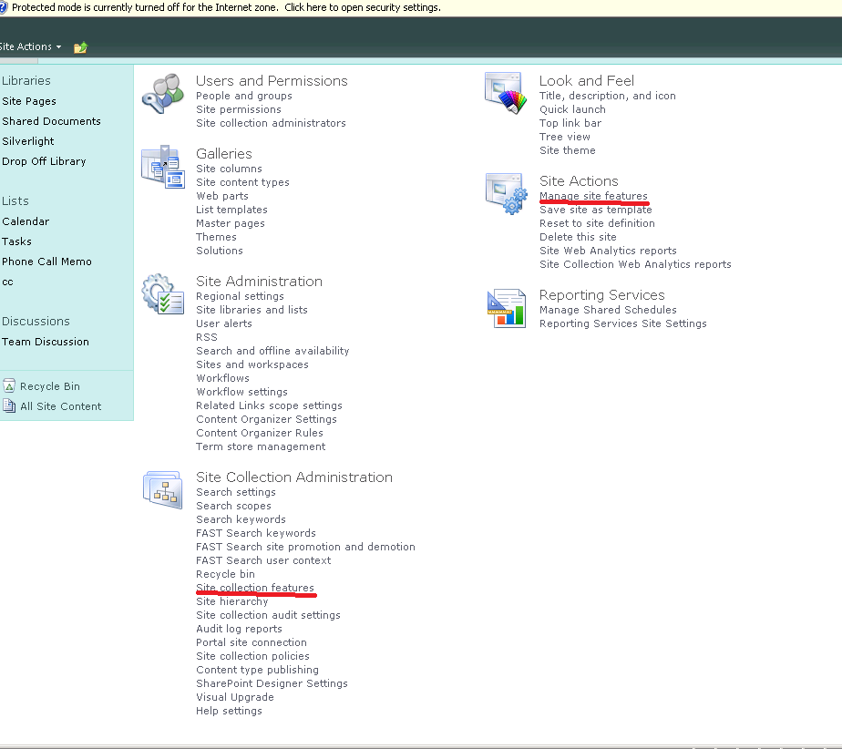 Creating a Business Intelligence Center site in SharePoint Server ...