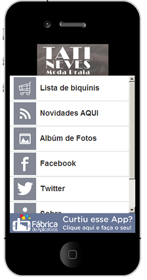 aplicativo tati neves moda praia para celular