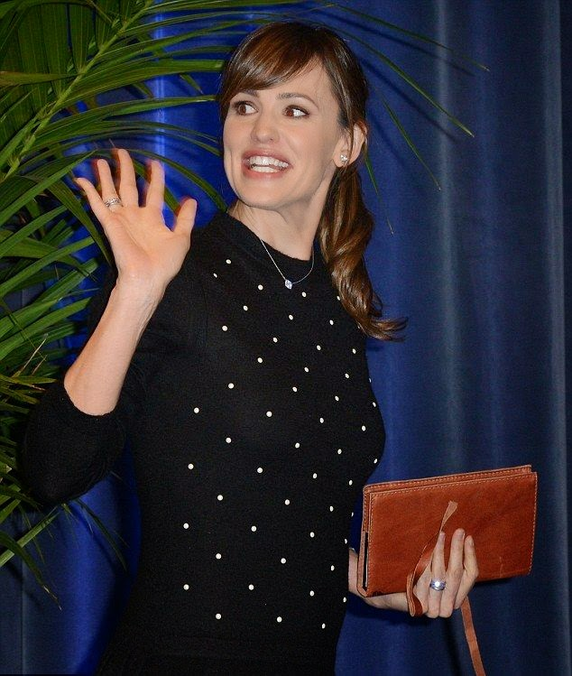 Jennifer Garner, 42, dressing down its all as she attended the 30th Santa Barbara International Film Festival at Arlington Theatre in Santa Barbara, California on Friday, February 6, 2015.