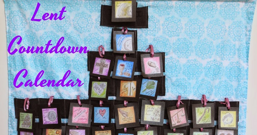 The Do It Yourself Mom Diy Lent Or Easter Countdown Calendar