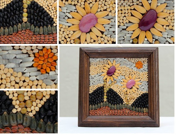 Blog de manualidades mosaico de semillas - Blog de manualidades y decoracion ...