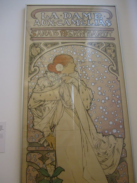 Alphonse Mucha poster at the Museum Fur Kunst Und Gewerbe in Hamburg, Germany.