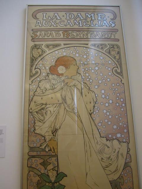 Alphonse Mucha poster at the Museum Fur Kunst Und Gewerbe in Hamburg, Germany.