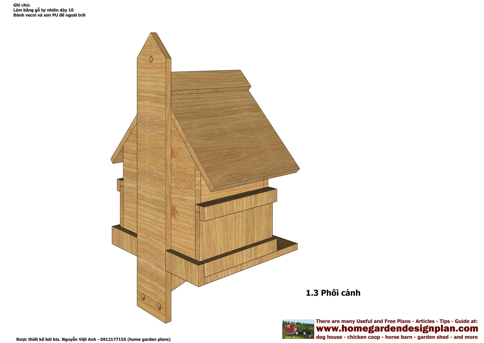 Wood Birds Houses Plan Free