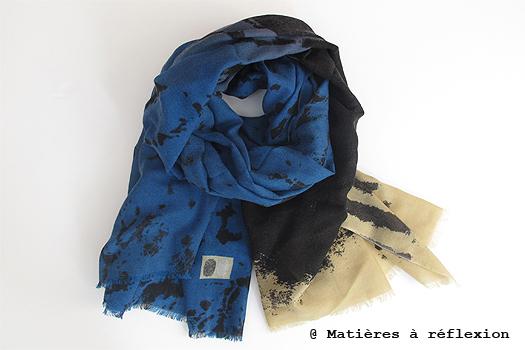 Foulard Dripping bleu de Mii