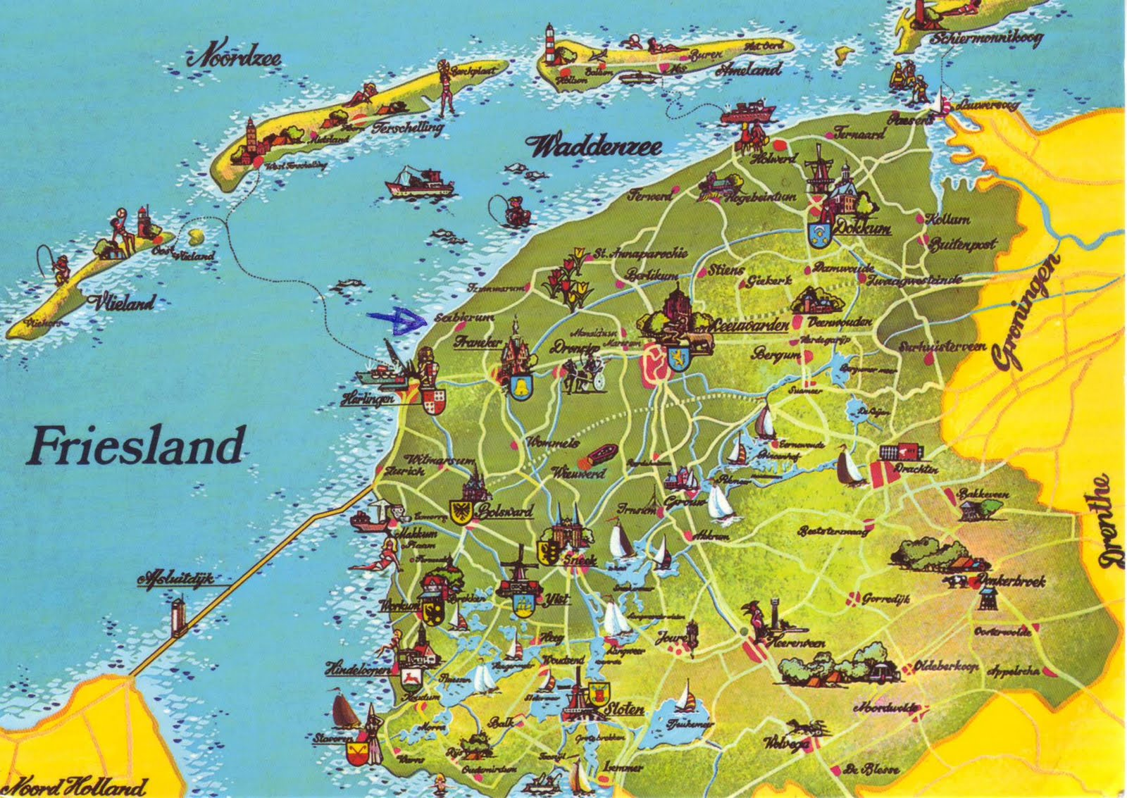 The World in Postcards - Sabine's Blog: Friesland Mapcard ...