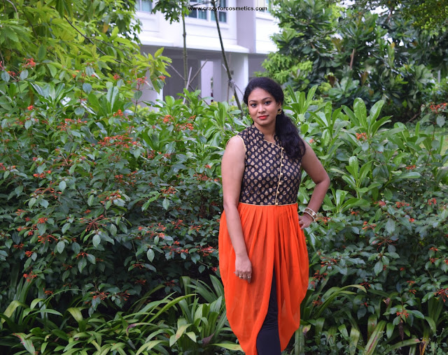 Indo western look using AKS Kurti