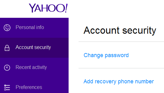 Cara mengganti Password Yahoo