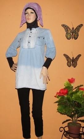 Blouse Soft jeans Gradasi AJ935