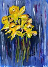 Dashing Daffodils Acrylics