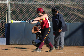 high school softball hitter