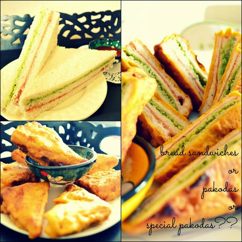 Bread Pakora collage