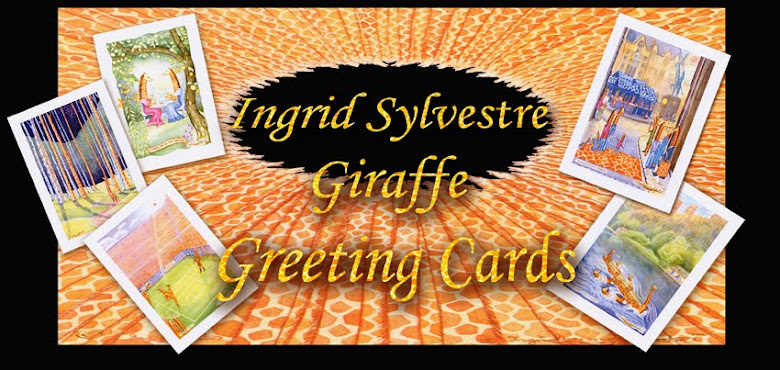 Ingrid Sylvestre Giraffe Greeting Cards