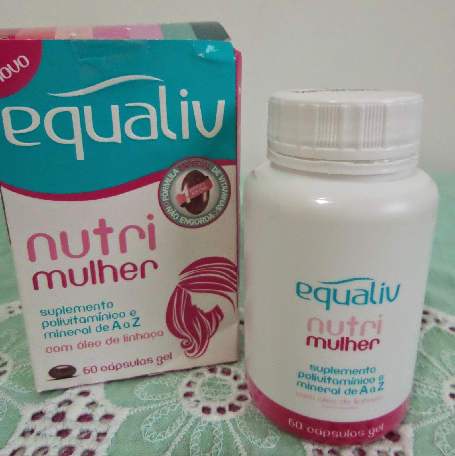 Equaliv  Nutri Mulher é um suplemento polivitamínico e mineral de A a Z