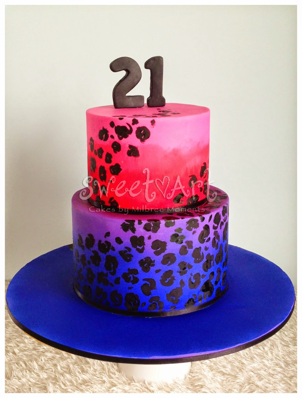 Sweet Art Cakes By Milbre Moments Shelleys Leopard Ombr Birthday
