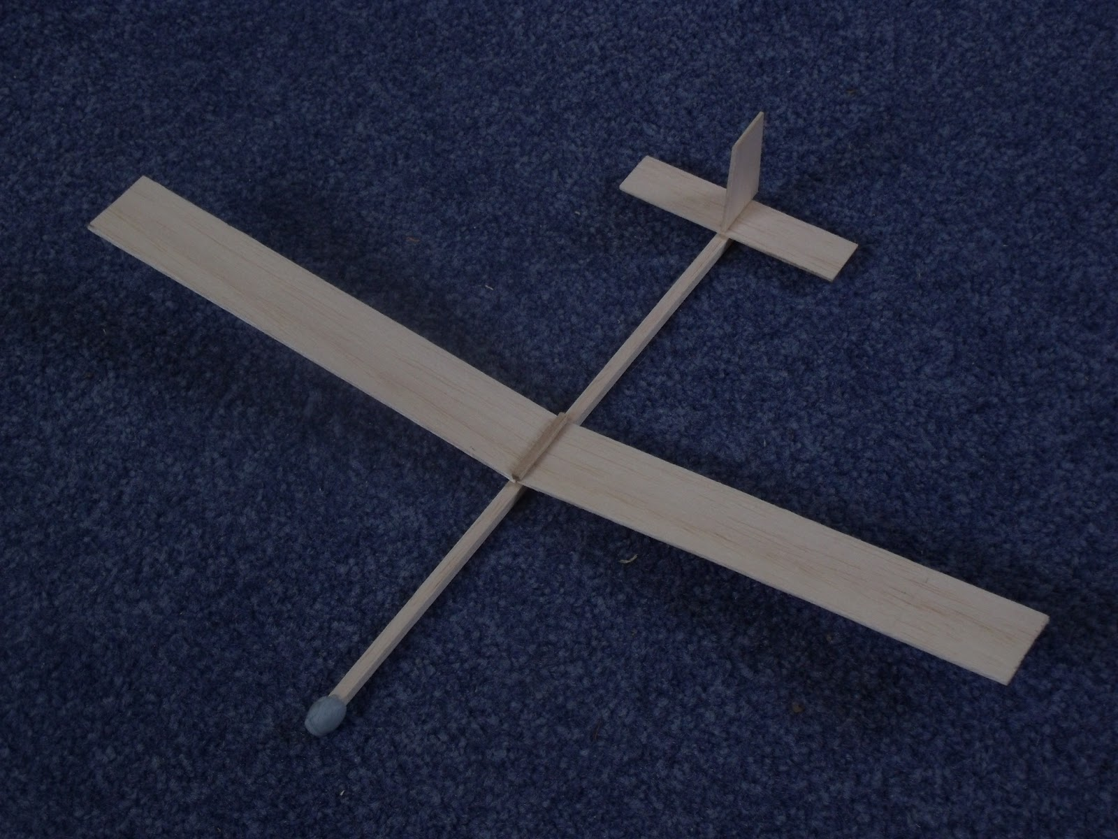 balsa wood sailplane
