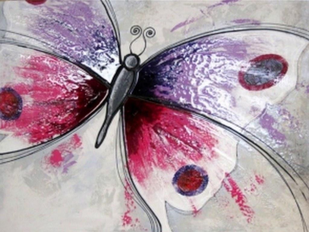 Pinturas cuadros lienzos pinturas de mariposas abstractas for Cuadro en lienzo modernos