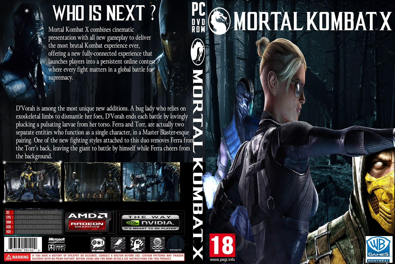Capa Mortal Kombat X PC