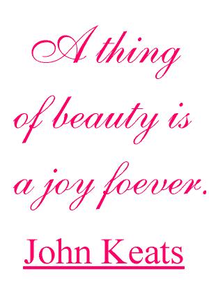 John Keats quote