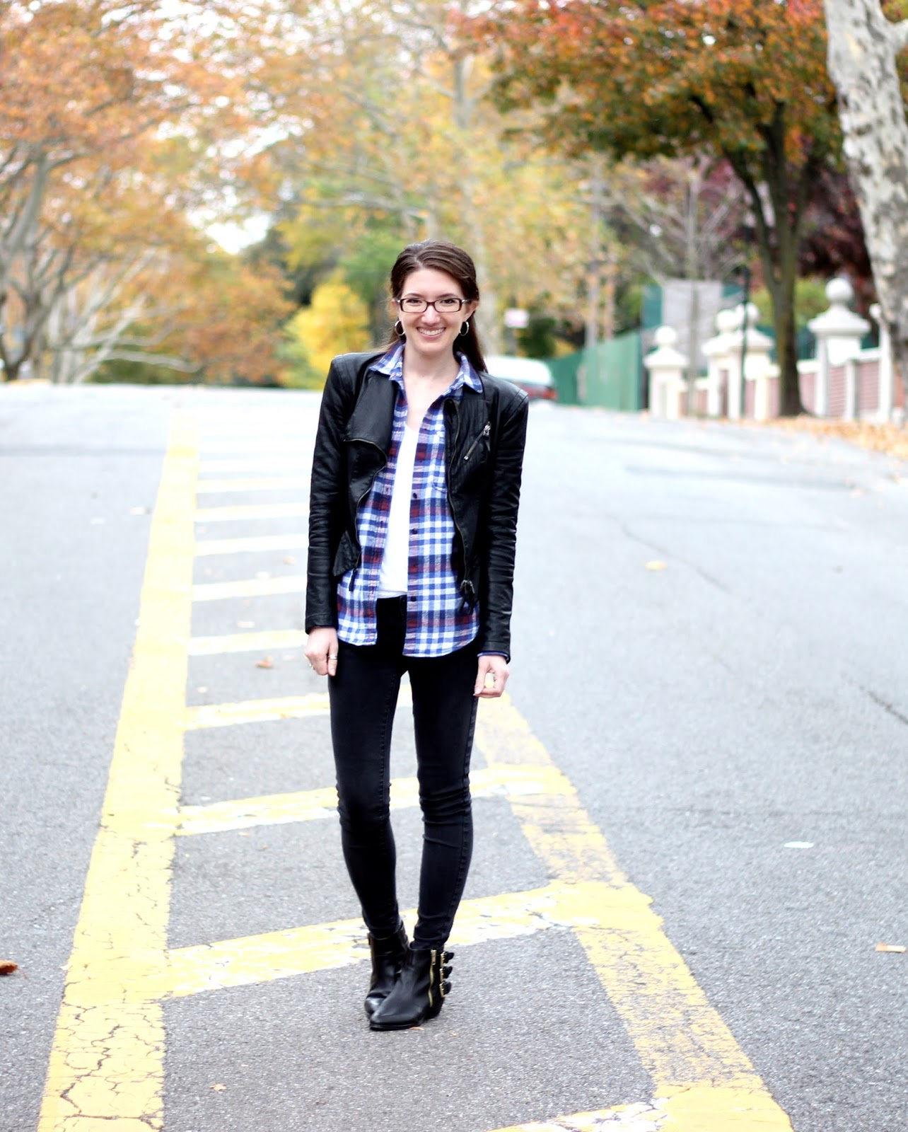 Pleather + Plaid