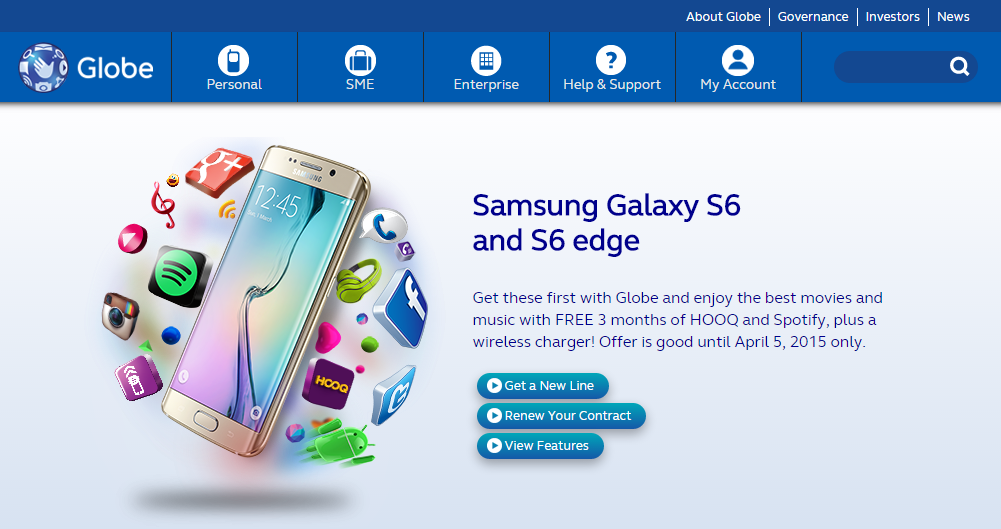 Samsung Galaxy S6 and Galaxy S6 Edge Pre-order Site