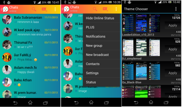 WhatsApp Plus V3.20 MOD Apk-Screenshot