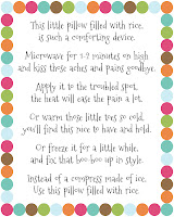 Diy Rice Bag Warmers Poem Printable Artsyfartsymama