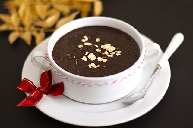 Healthy Chocolate Fudge Brownie Oatmeal - Desserts with Benefits