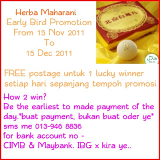 Herba Maharani Early Bird Promotion
