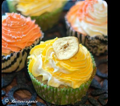 Bananen Cupcakes mit Vanille Frosting