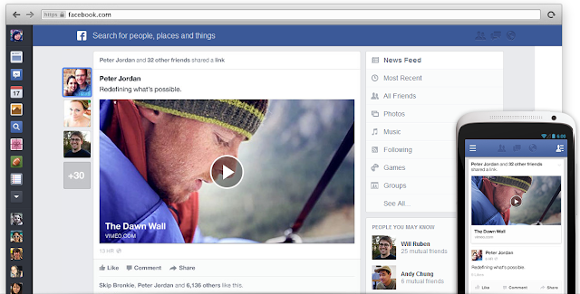Facebook new Design 2013