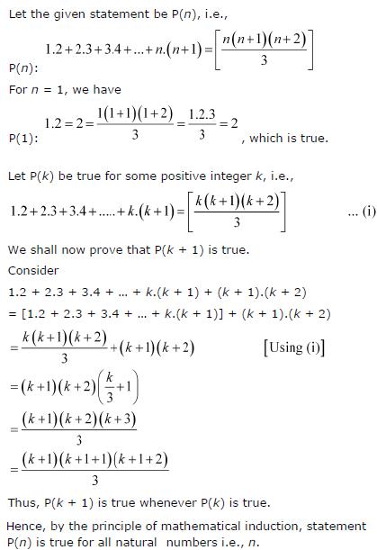 1.2 + 2.3 + 3.4 +…+ n.(n+1) = n ( n + 1) (n + 2)/3