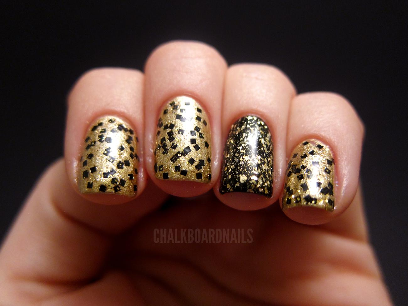 New Year\'s Eve Combo   Chalkboard Nails   Nail Art Blog
