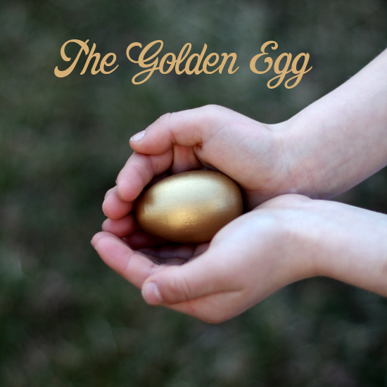 A golden easter egg.  Everyday Magic blog.
